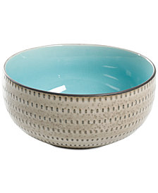 Gibson Reactive Glaze Taupe Small Serving Bowl, Created for Macy's