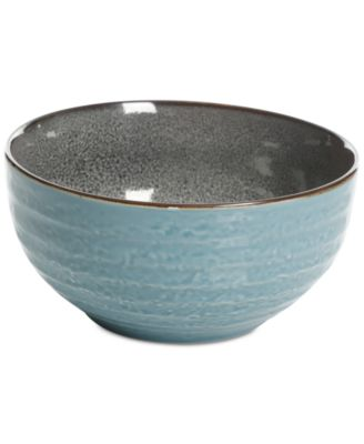 Elite Reactive Glaze Teal Small Serving Bowl, Created for Macy's