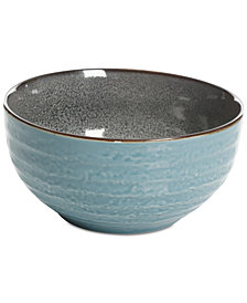 Gibson Elite Reactive Glaze Teal Small Serving Bowl, Created for Macy's