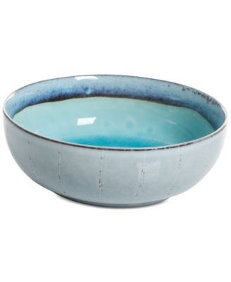 Elite Reactive Glaze Turquoise Cereal Bowl, Created for Macy's