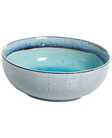 Gibson Elite Reactive Glaze Turquoise Cereal Bowl, Created for Macy's