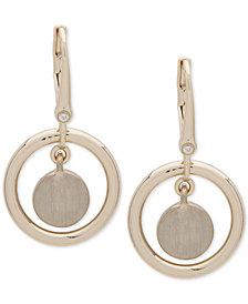 DKNY Gold-Tone Orbital Drop Earrings, Created for Macy's
