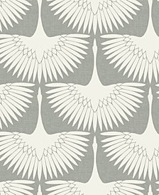 Genenieve Gorder For Tempaper Feather Flock Self-Adhesive Wallpaper