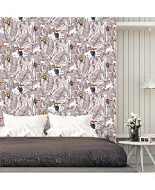 Tempaper Toucan Self-Adhesive Wallpaper