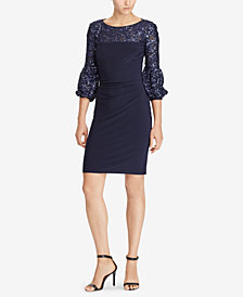 Lauren Ralph Lauren Sequin-Trim Dress