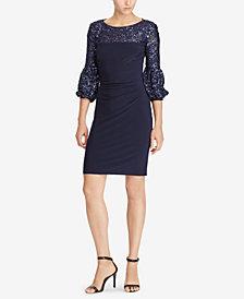 Lauren Ralph Lauren Sequin-Trim Dress