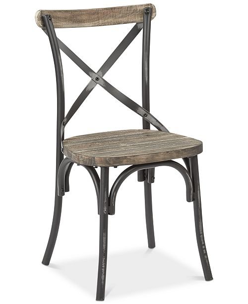 Furniture Glenman X-Back Dining Chair, Quick Ship