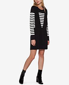 Avec Les Filles Parisian Striped Sweater & Apron Skirt