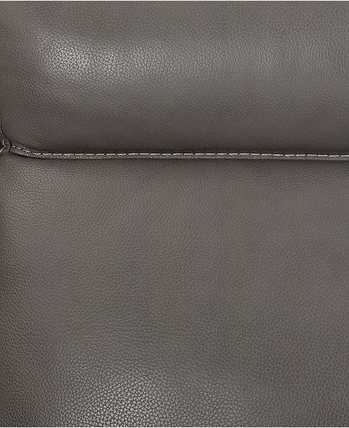 Furniture Pirello Ii 3 Pc Leather Sectional Sofa With