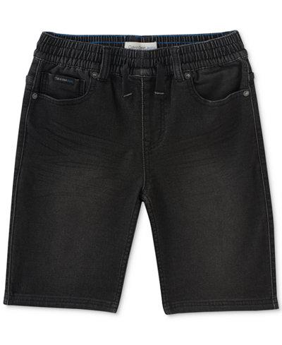 Calvin Klein Knit Denim Shorts, Big Boys