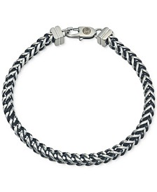 Link Bracelet in Stainless Steel and Black Ion-Plate, Created for Macy's