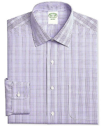 Brooks brothers men 39 s milano extra slim fit non iron for Brooks brothers non iron shirt review