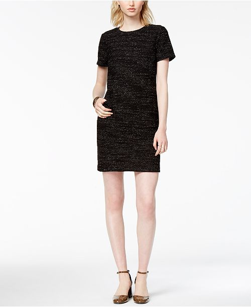 486f7d30f8 Maison Jules Textured Shift Dress, Created for Macy's & Reviews ...