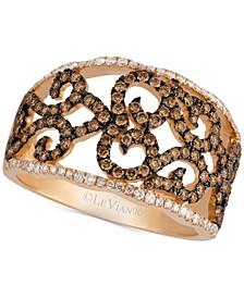Chocolatier® Diamond Lattice Ring (7/8 ct. t.w.) in 14k Rose Gold