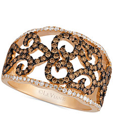 Le Vian Chocolatier® Diamond Lattice Ring (7/8 ct. t.w.) in 14k Rose Gold