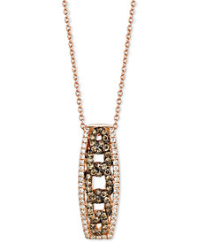 Le Vian Chocolatier® Diamond Link-Style Pendant Necklace (1/2 ct. t.w.) in 14k Rose Gold