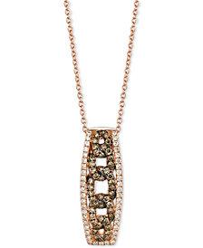 Le Vian Chocolatier® Diamond Link-Style Pendant Necklace (1/2 ct. t.w.) in 14k Rose Gold