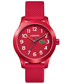 Lacoste Kids' 12.12 Red Silicone Strap Watch 32mm