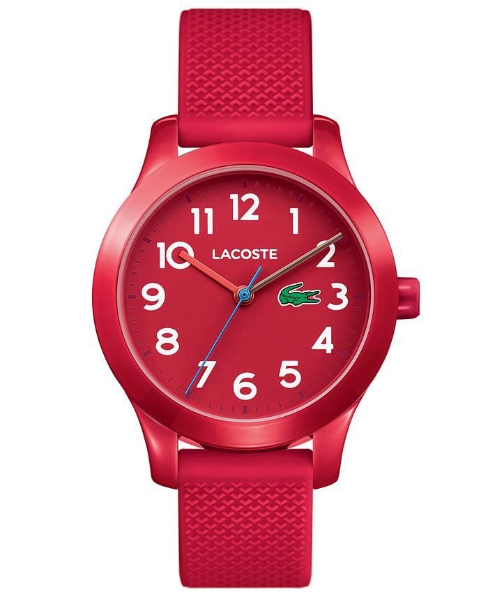 Lacoste - Kids 12.12 Red Silicone Strap Watch 32mm