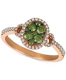 Le Vian Exotics® Diamond Halo Ring (5/8 ct. t.w.) in 14k Rose Gold