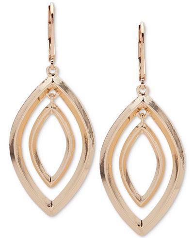 Anne Klein Silver-Tone Orbital Drop Earrings