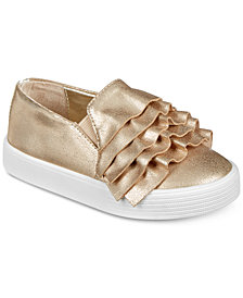 Kenneth Cole New York Baby Kam Ruffle Slip-On Shoes, Baby Girls