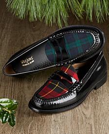 Men's Larson Plaid Patent Leather Loafers