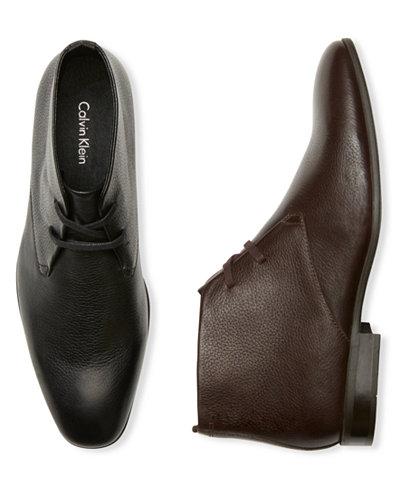 Mens Shoes Calvin Klein Court Black Leather