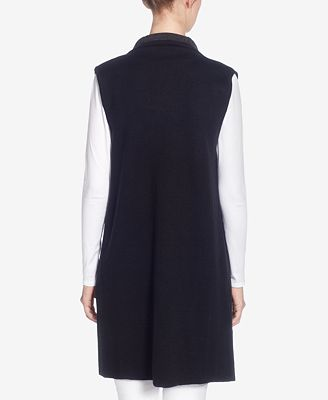 Catherine Malandrino Letty Open Front Sweater Vest Jackets Women