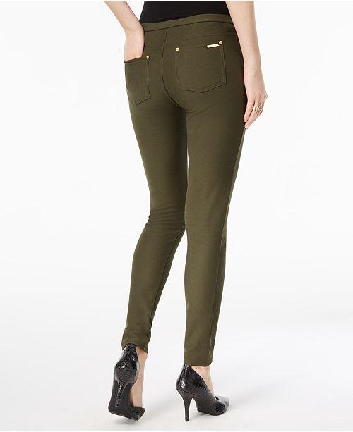 bd49c6f6e0a4e Michael Kors Petite Stretch Twill Leggings   Reviews - Pants ...