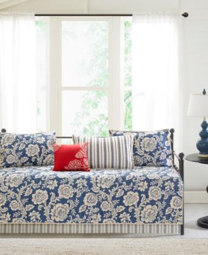 Madison Park Lucy 6-Pc. Cotton Reversible Daybed Bedding Set Bedding 5486258