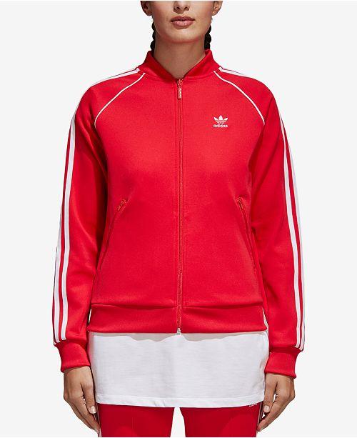 detailed look b7f70 f6e6b ... adidas adicolor Superstar Three-Stripe Track Jacket ...