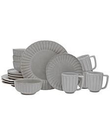 Monterey Gray 16-Piece Dinnerware Set, Service for 4
