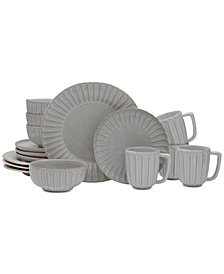 Mikasa Monterey Gray 16-Piece Dinnerware Set, Service for 4