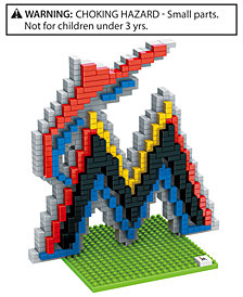 Forever Collectibles Miami Marlins BRXLZ 3D Logo Puzzle