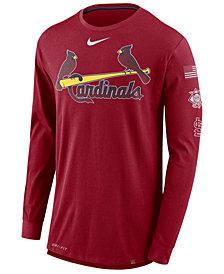 Nike Men's St. Louis Cardinals Drop Tail Long Sleeve T-Shirt
