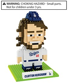 Forever Collectibles Clayton Kershaw Los Angeles Dodgers BRXLZ 3D Player Puzzle