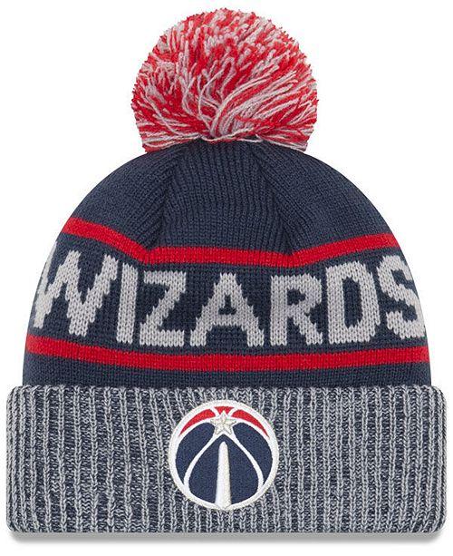New Era Washington Wizards Court Force Pom Knit Hat - Sports Fan ... 6287a00ae6a
