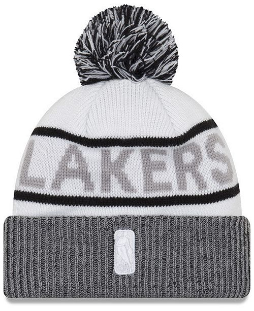 9e4c75f5bc973c ... cheap new era. los angeles lakers court force pom knit hat. be the first