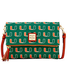 Dooney & Bourke Miami Hurricanes Foldover Crossbody Purse
