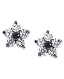 Betsey Johnson Crystal Star Stud Earrings