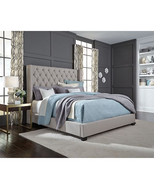 furniture monroe upholstered queen bed furniture macy s