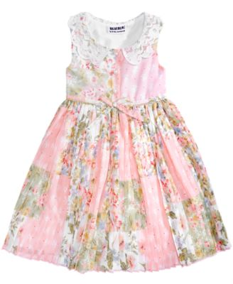 Floral-Print Pleated Dress, Baby Girls