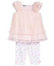 Blueberi Boulevard 2-Pc. Tiered Tunic & Leggings Set, Baby Girls