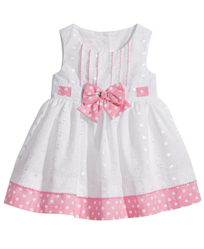 Bonnie Baby Eyelet & Dot-Print Dress, Baby Girls