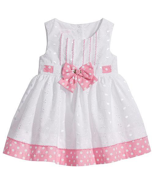 dba0ec9c3ec5 Bonnie Baby Eyelet & Dot-Print Dress, Baby Girls & Reviews - Dresses ...