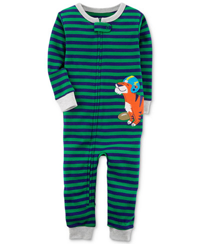 Carter's Tiger Stripe-Print Cotton Pajamas, Baby Boys