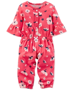Carters FloralPrint Cotton Jumpsuit Baby Girls (024 months)