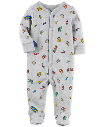 Carter's 1-Pc. Printed Footed Cotton Coverall, Baby Boys