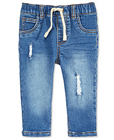 First Impressions Destructed Denim Jeans, Baby Boys, Created for Macy's